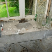 sink in old schoolroom